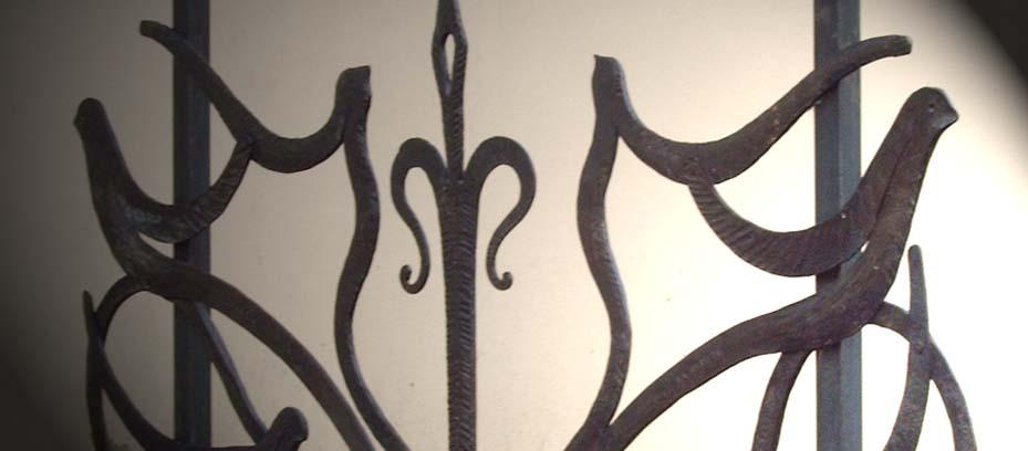 Cancello in ferro battuto lucca