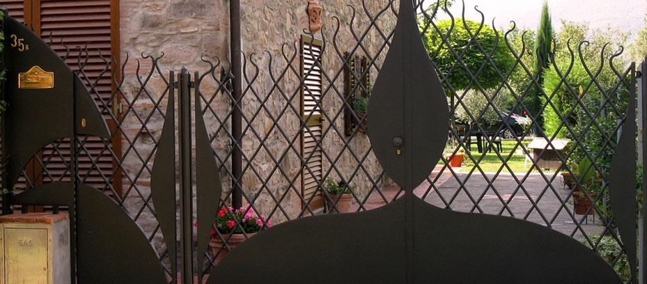 Cancello in ferro battuto a pisa