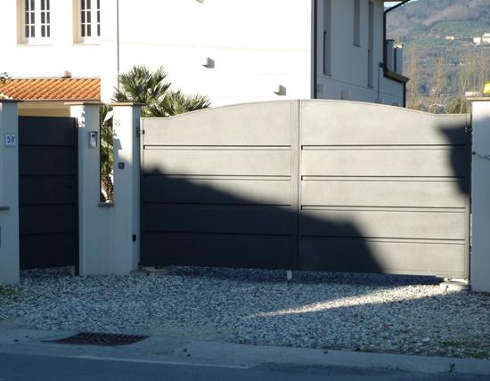 Cancello e cancellino ferro ferro d 39 arte for Cancello scorrevole moderno
