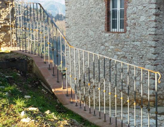 Ringhiera ferro ferro d 39 arte - Ringhiera giardino ...