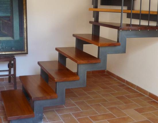Scala ferro legno ferro d 39 arte - Scala interna in legno ...